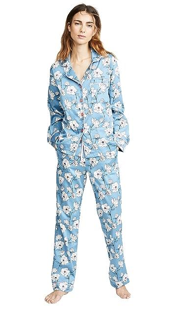 BedHead Pajamas Classic Peonies Long PJ Set