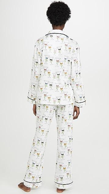 BedHead Pajamas Martinis And Mistletoe PJ Set