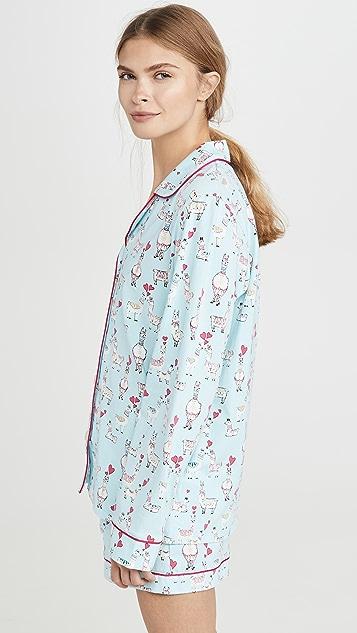 BedHead Pajamas Llama Love 短睡衣套装