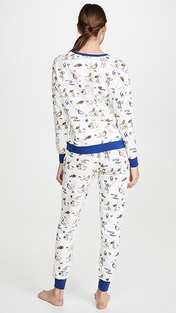 BedHead Pajamas Meowzel Tov 慢跑长裤睡衣套装