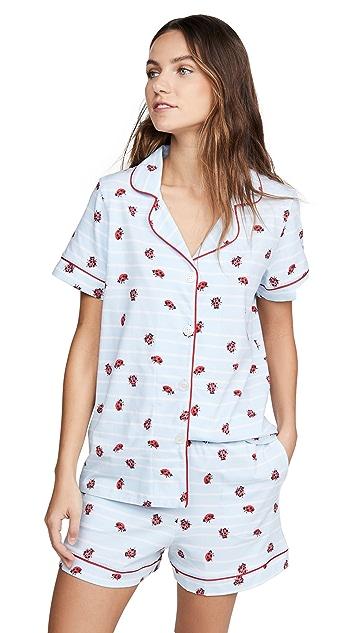 Пижама BedHead Пижама Walk The Line с шортами