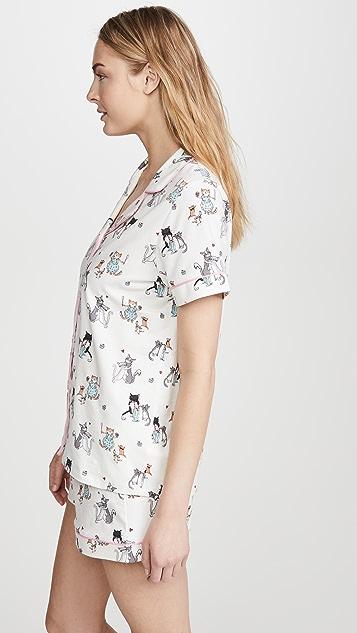 Пижама BedHead Классическая пижама Baked with Love с короткими рукавами и шортами