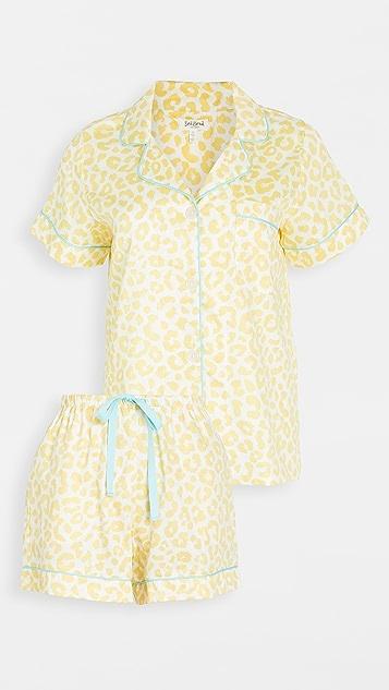 BedHead 睡衣 Animal Instinct 短袖经典短睡衣套装