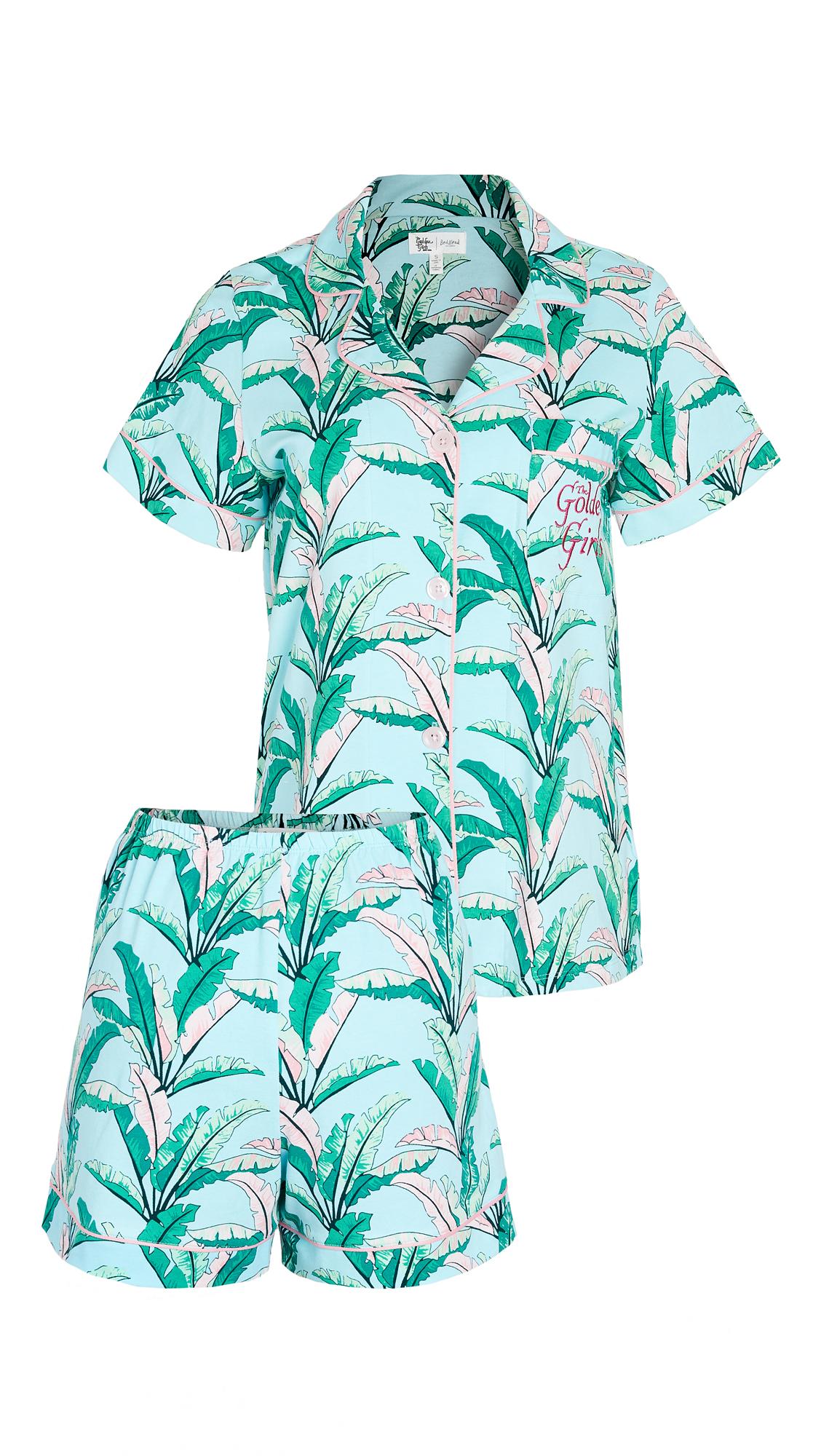 BedHead Pajamas Golden Girls Palm Short Sleeve Classic Shorty PJ Set