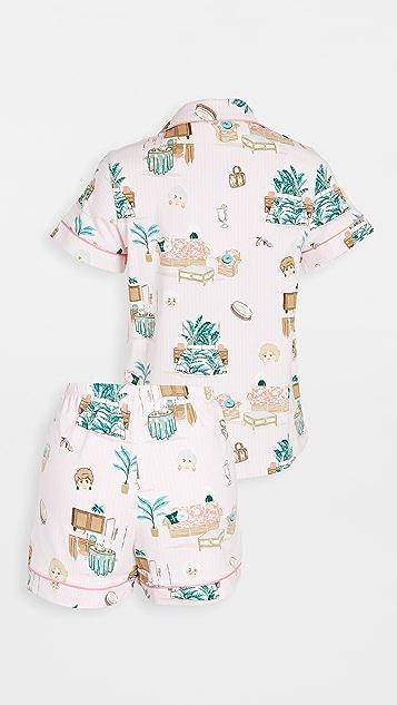 BedHead Pajamas Golden Girls Short Sleeve Classic Shorty Pajama Set