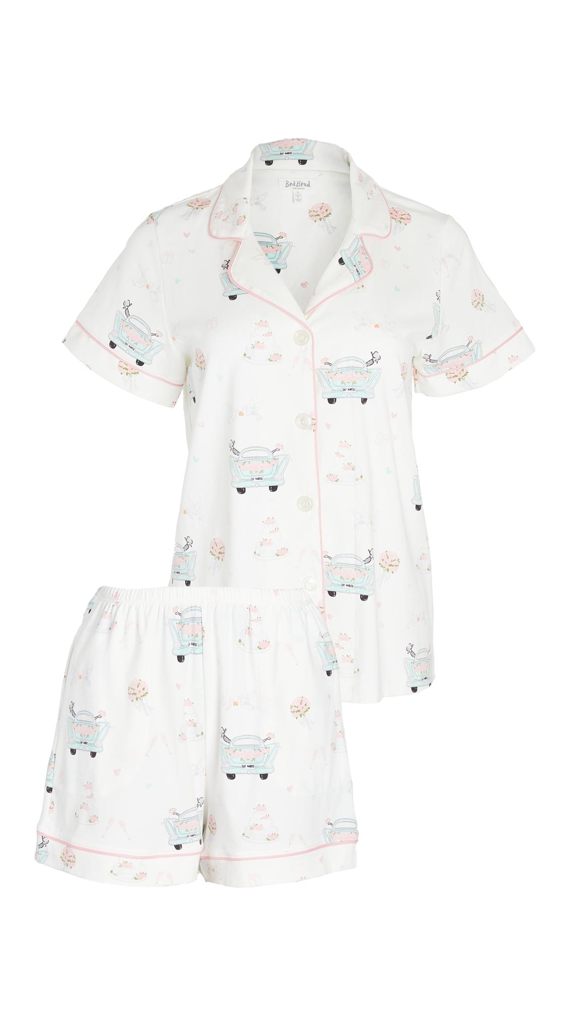 BedHead Pajamas Just Married Short Sleeve Classic Shorty PJ Set