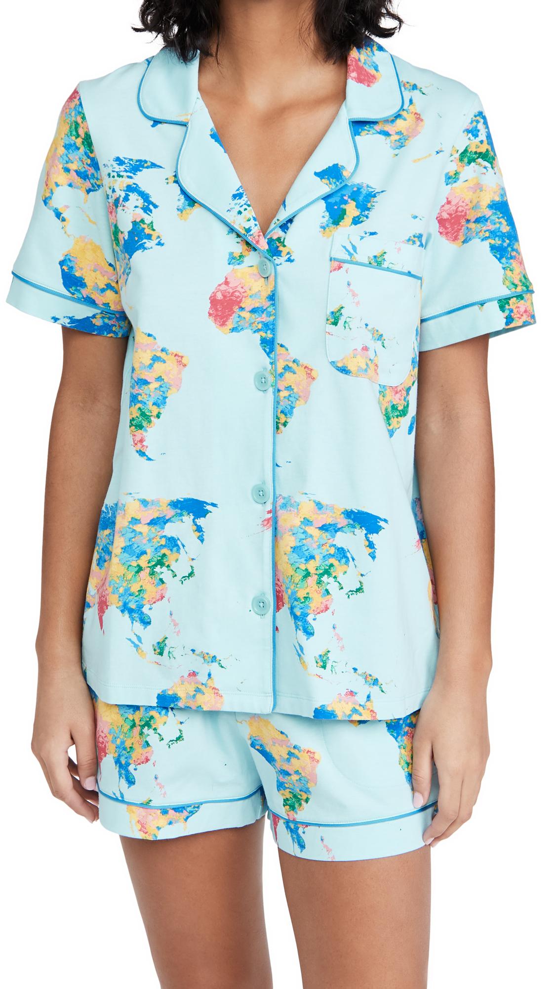 BedHead Pajamas World of Color Classic Shorty PJ Set