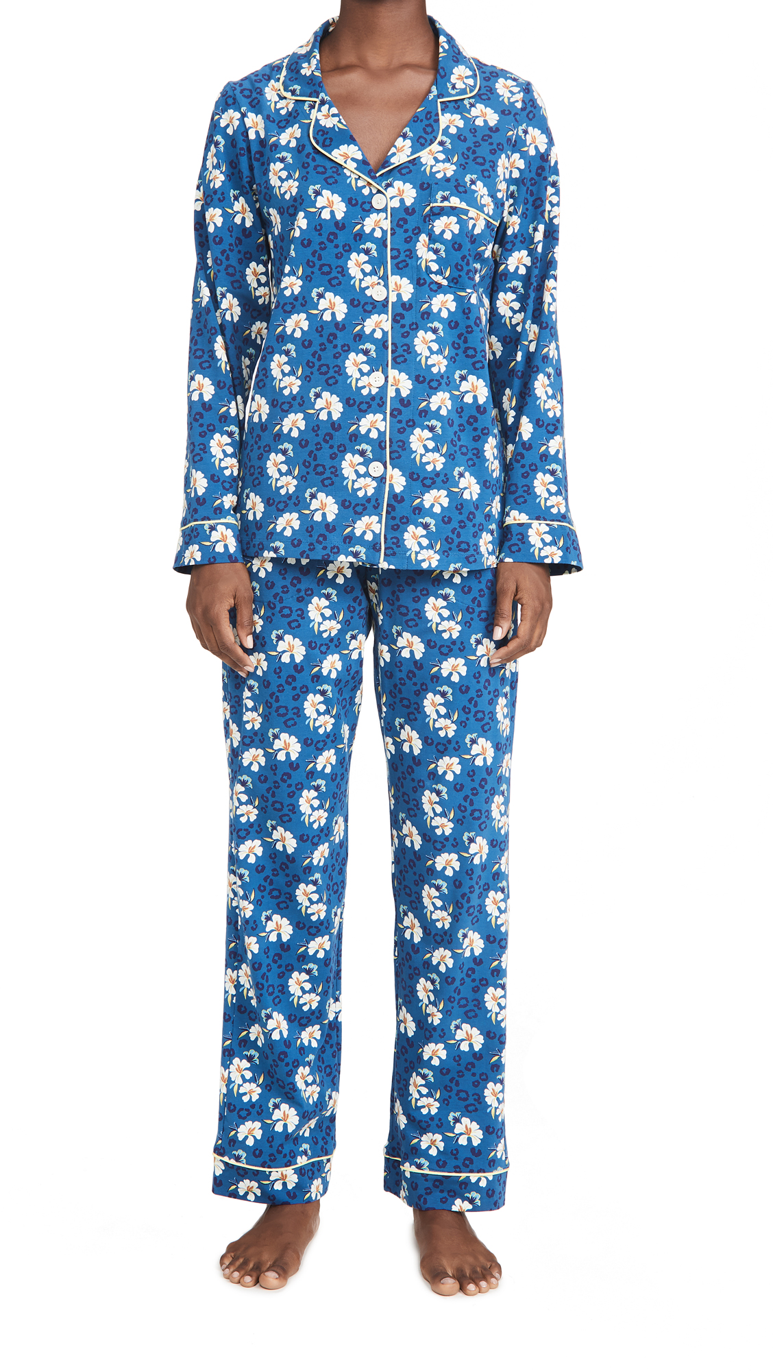 BedHead Pajamas Feline Floral Classic PJ Set