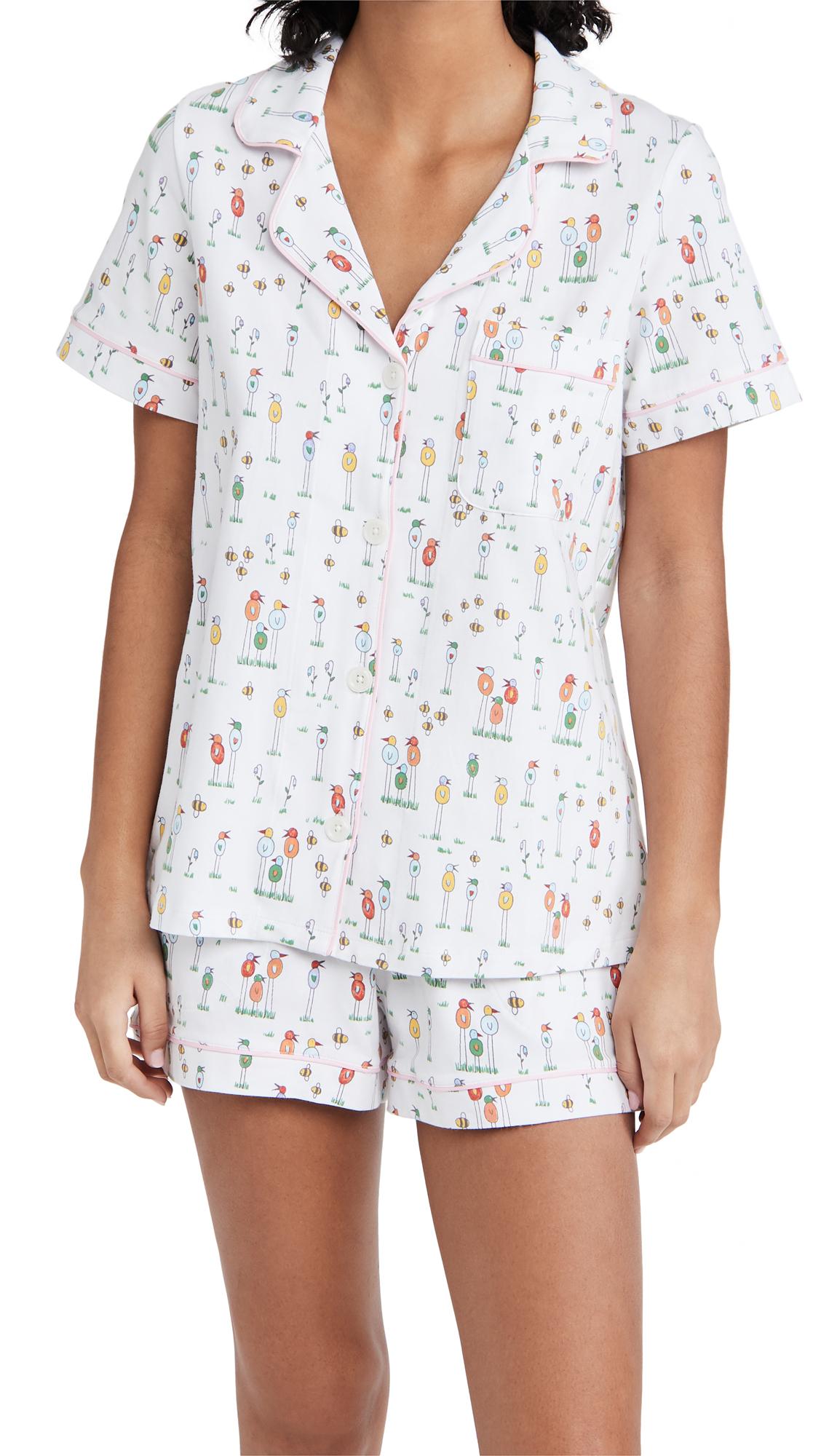 BedHead Pajamas x natchie Birds And Bees Shorty PJ Set