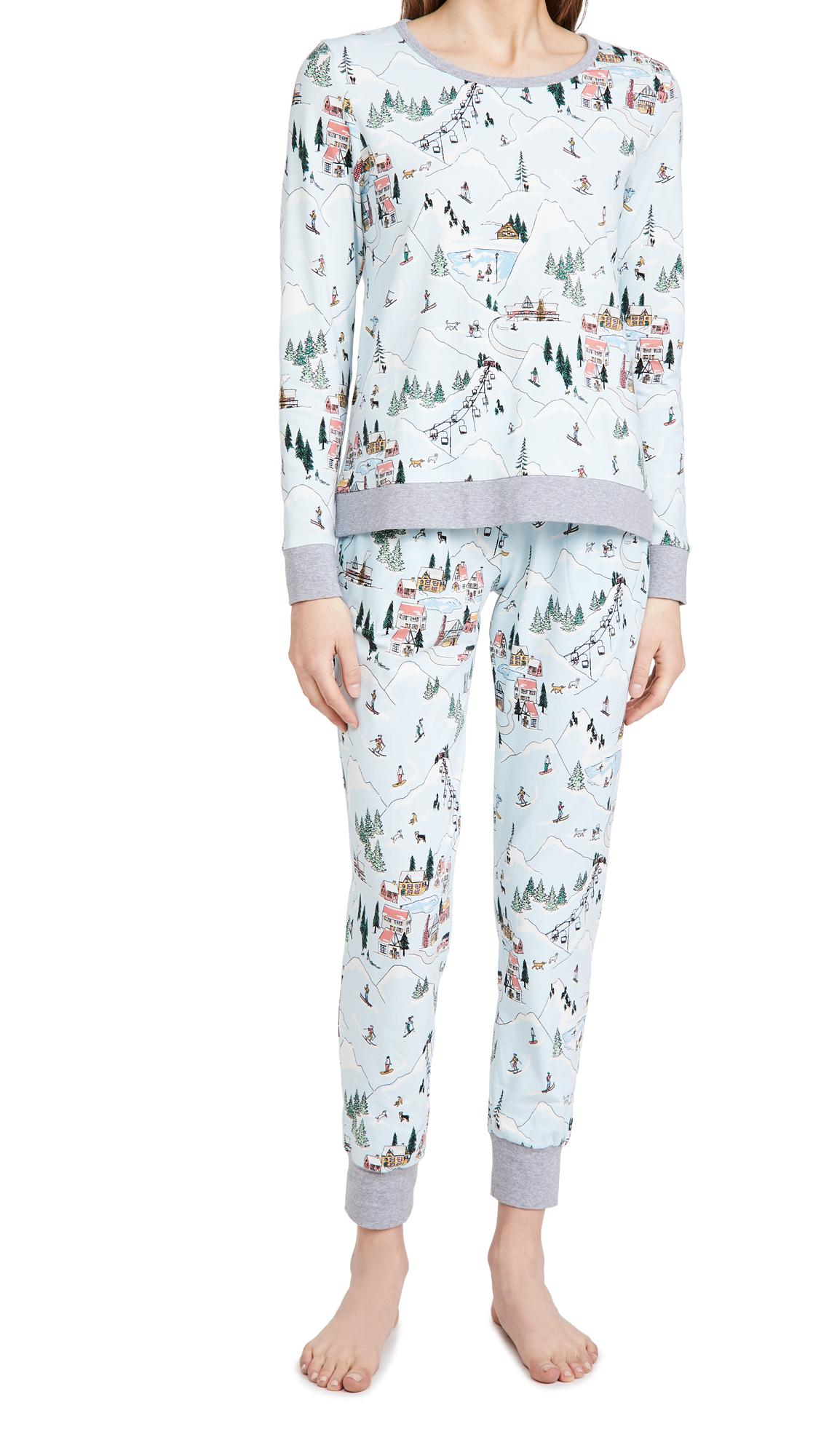 BedHead Pajamas Long Sleeve Crew Neck Joggers Pajama Set