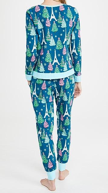 BedHead 睡衣 圆领套头衫和慢跑裤套装
