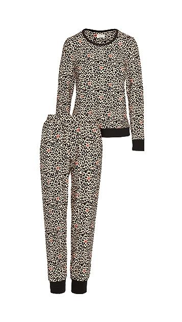 BedHead Pajamas Crew Pullover & Joggers Pajama Set