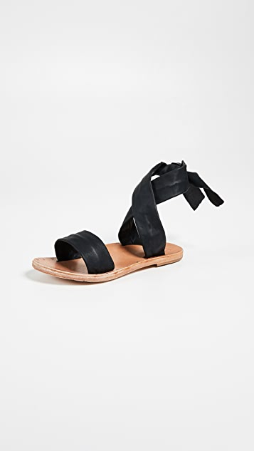 beek Canary Wrap Sandals - Black/Natural