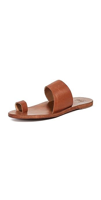 beek Finch Toe Ring Slides - Tan/Tan