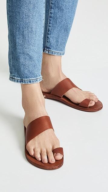 甜菜紫 Finch 趾环无跟便鞋