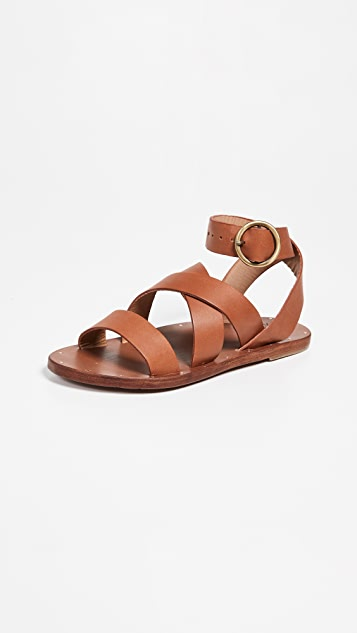 beek Lora Wrap Sandals - Tan/Tan