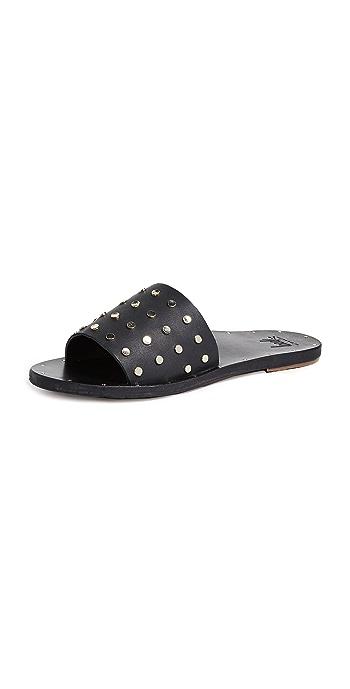 beek Lovebird Stud Slides - Black/Black