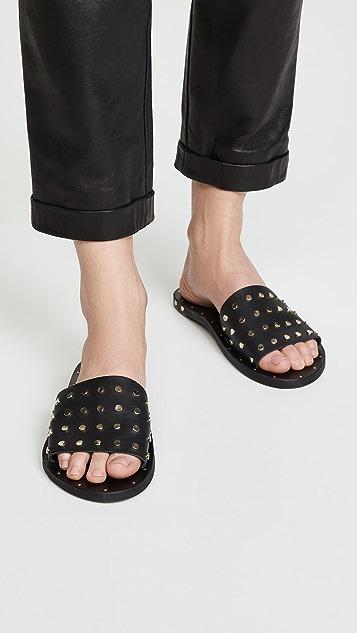 beek 爱情鸟铆钉凉拖鞋