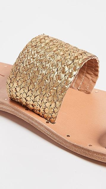 beek Dove Braid Toe Ring Sandals