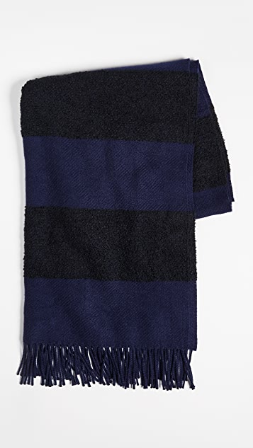 Begg & Co. Boucle Furrow Striped Blanket Scarf