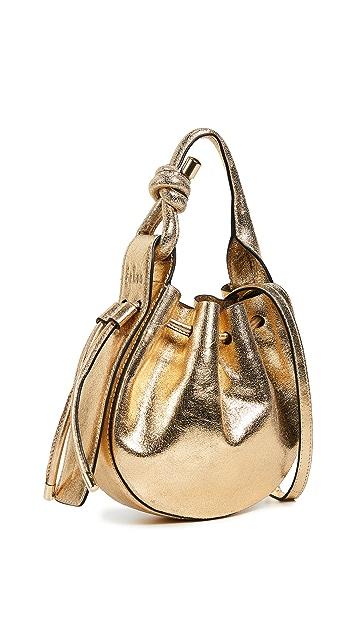 Behno Миниатюрная металлизированная сумка через плечо Ina