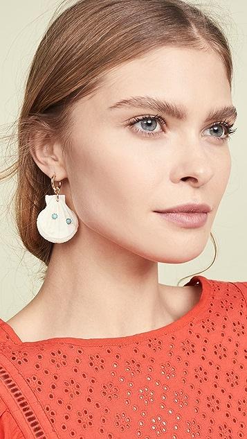 Brinker & Eliza Summer Friday Huggie Earrings