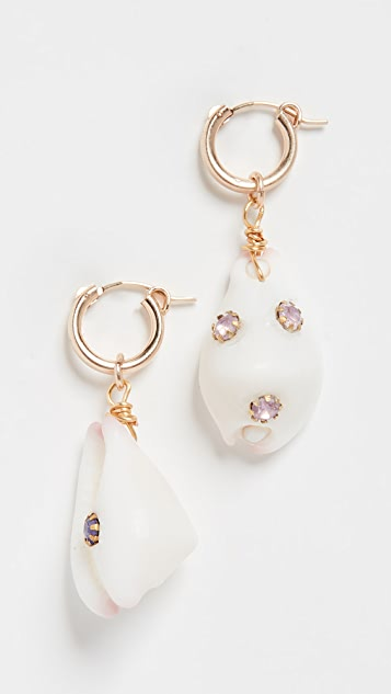 Brinker & Eliza Georgica Huggie Earrings