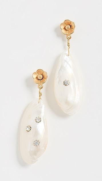 Brinker & Eliza Серьги White Hot