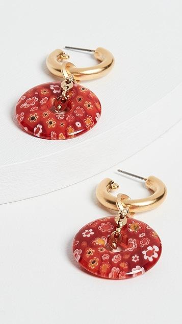 Brinker &Eliza 迷你链条甜甜圈圈式耳环