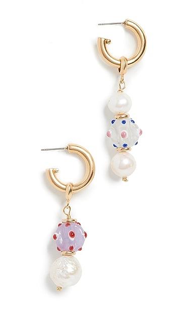 Brinker &Eliza Beach 球形和条形圈式耳环