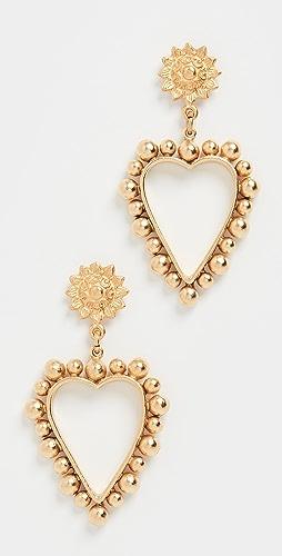 Brinker & Eliza - Heart of Gold Earrings