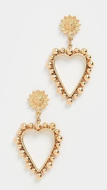 Brinker & Eliza Heart of Gold Earrings