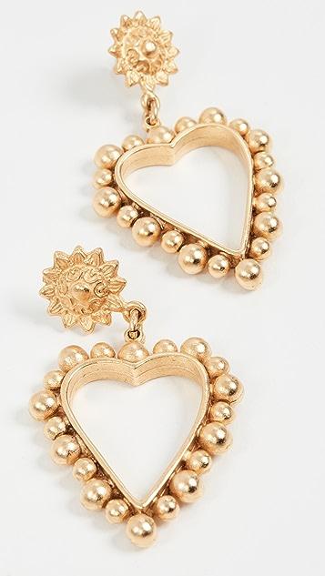 Brinker &Eliza 心形金耳环