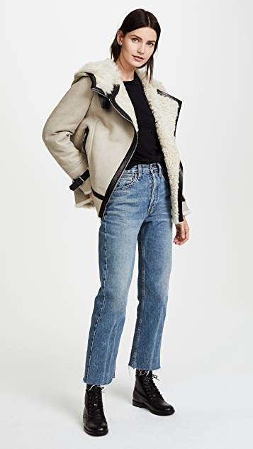 Belstaff Marsh Suede Shearling Jacket
