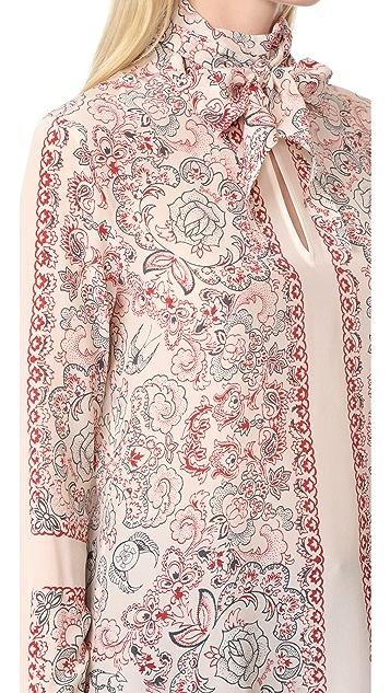 Belstaff Alene Printed Silk Top