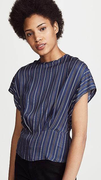 Belstaff Federica Cropped Shirt - Admiral Blue
