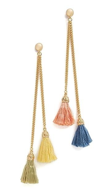 Ben-Amun Mixed Tassel Earrings