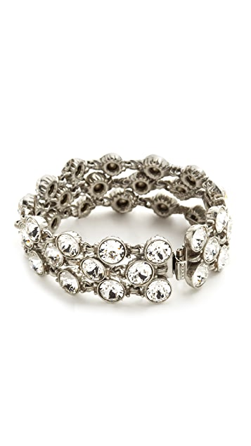 Ben-Amun Three Row Crystal Bracelet