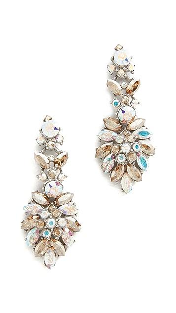 Ben-Amun Iridescent Cluster Chandelier Earrings