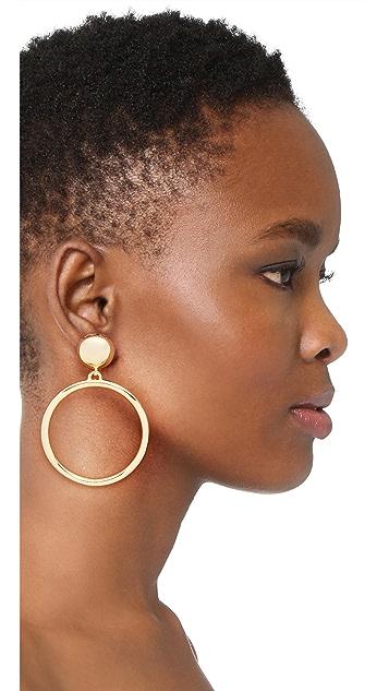 Ben-Amun Large Circle Clip On Earrings