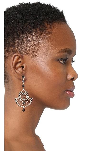 Ben-Amun Fan Drop Earrings