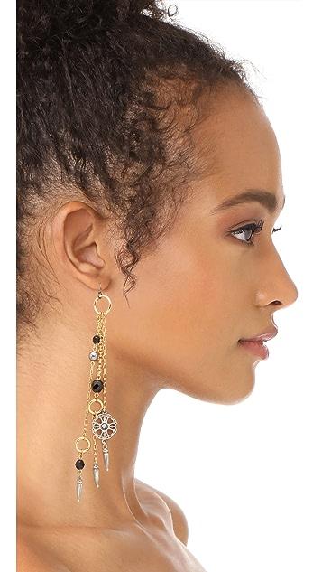 Ben-Amun Fringe Drop Fishhook Earrings