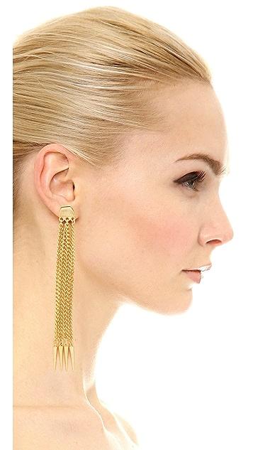 Ben-Amun Six Chain Drop Earrings