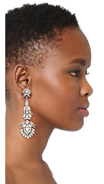 Ben-Amun Crystal Clip On Peacock Earrings