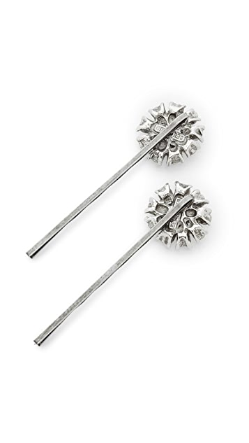 Ben-Amun Crystal Circle Bobby Pin Set of 2