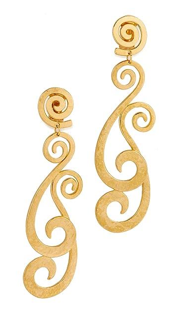 Ben-Amun Swirly Clip On Earrings