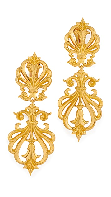 Ben-Amun Clip On Statement Earrings