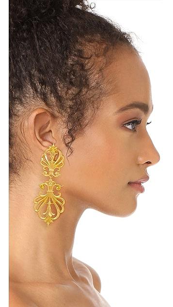 Ben-Amun Clip On Statement Earrings