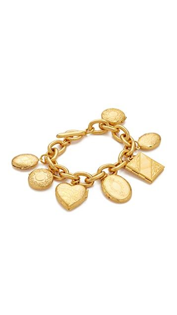 Ben-Amun Gold Chain Locket Pendant Bracelt
