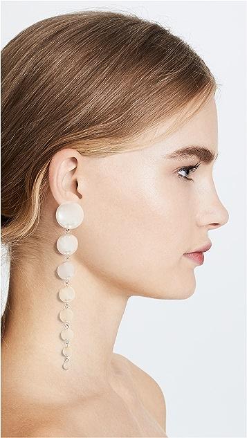 Ben-Amun Long Imitation Pearl Earrings